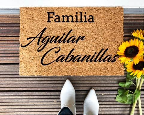 Felpudo Familia y apellidos