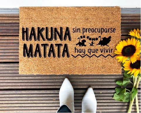 Felpudo Hakuna Matata sin...