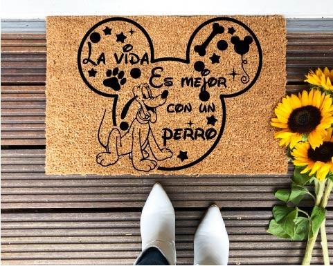 Felpudo Pluto La vida es...