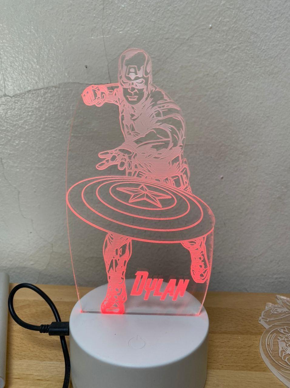 Lámpara led Capitán América