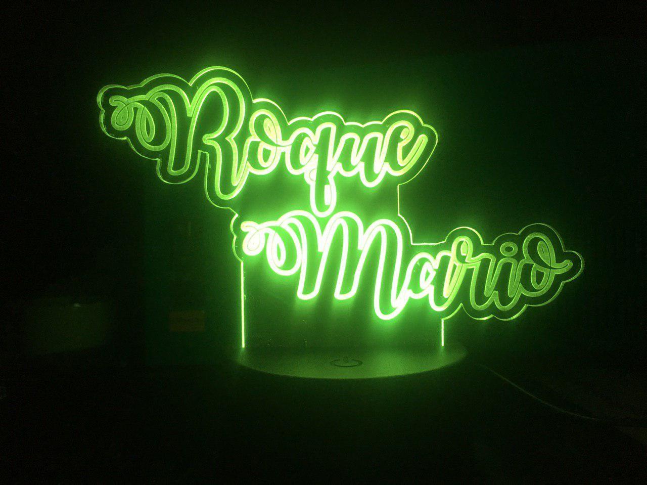 Lámpara led con dos nombres