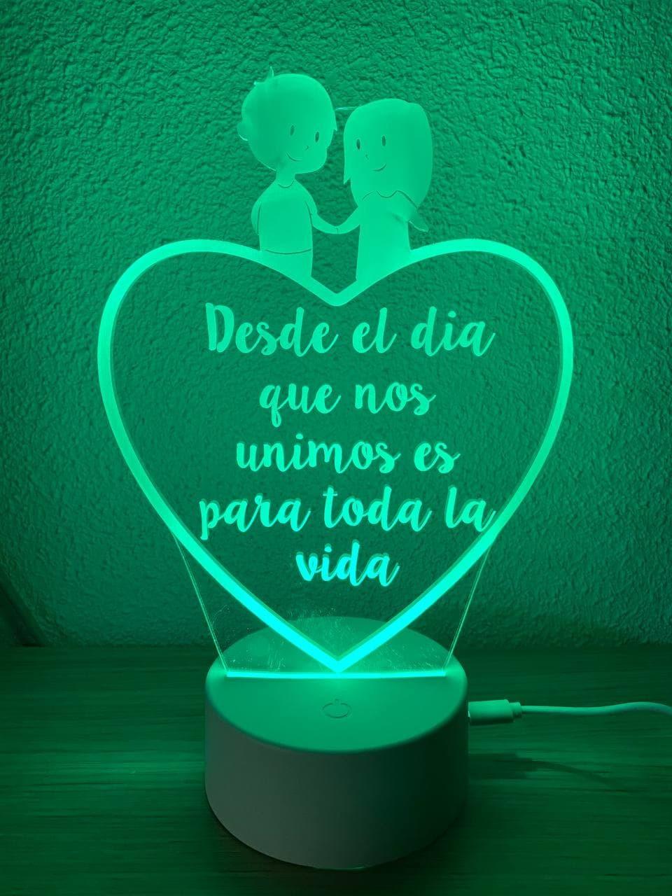 Lámpara led enamorados...