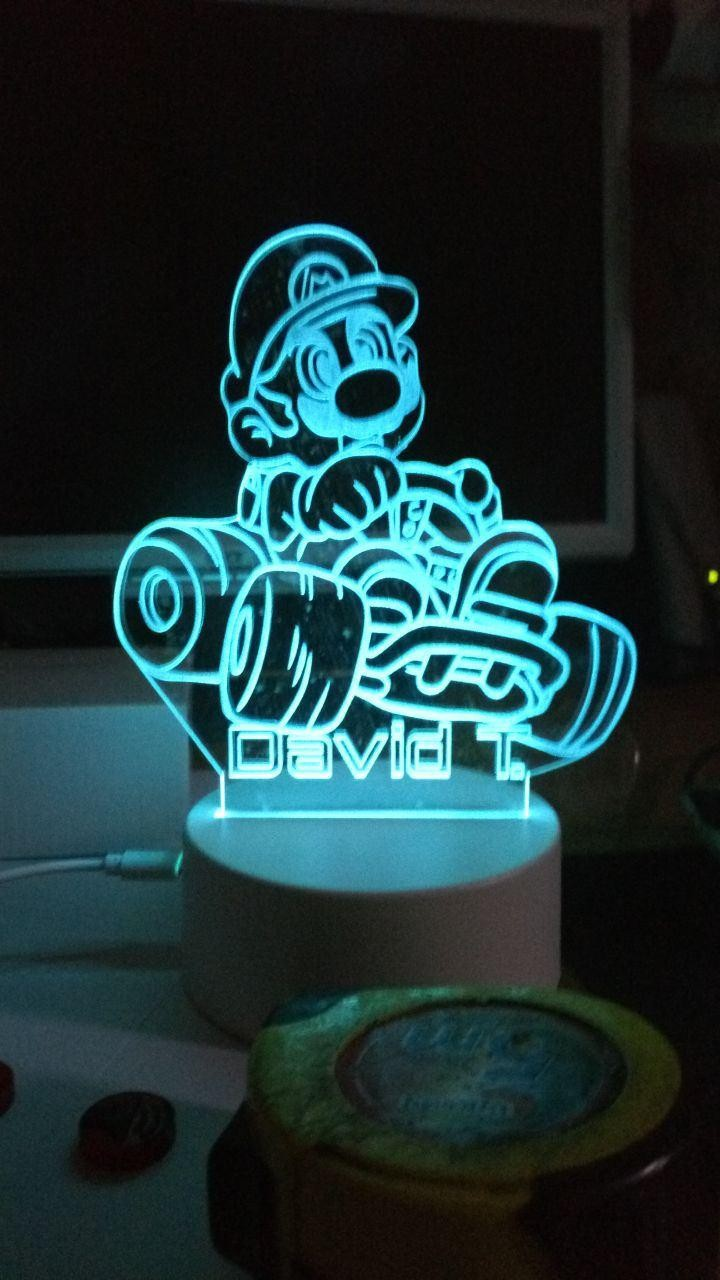 Lámpara led Mario Cars