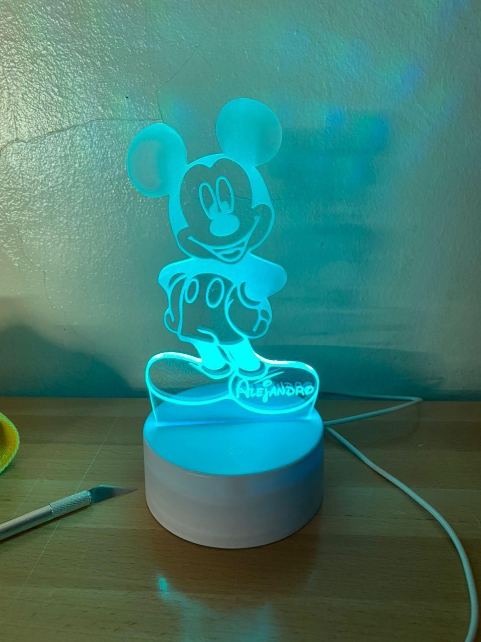Lámpara led Mickey Mouse