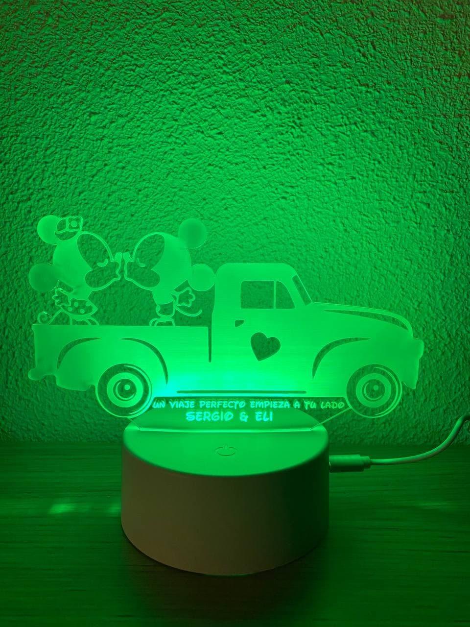 Lámpara led Mickey y Minnie...