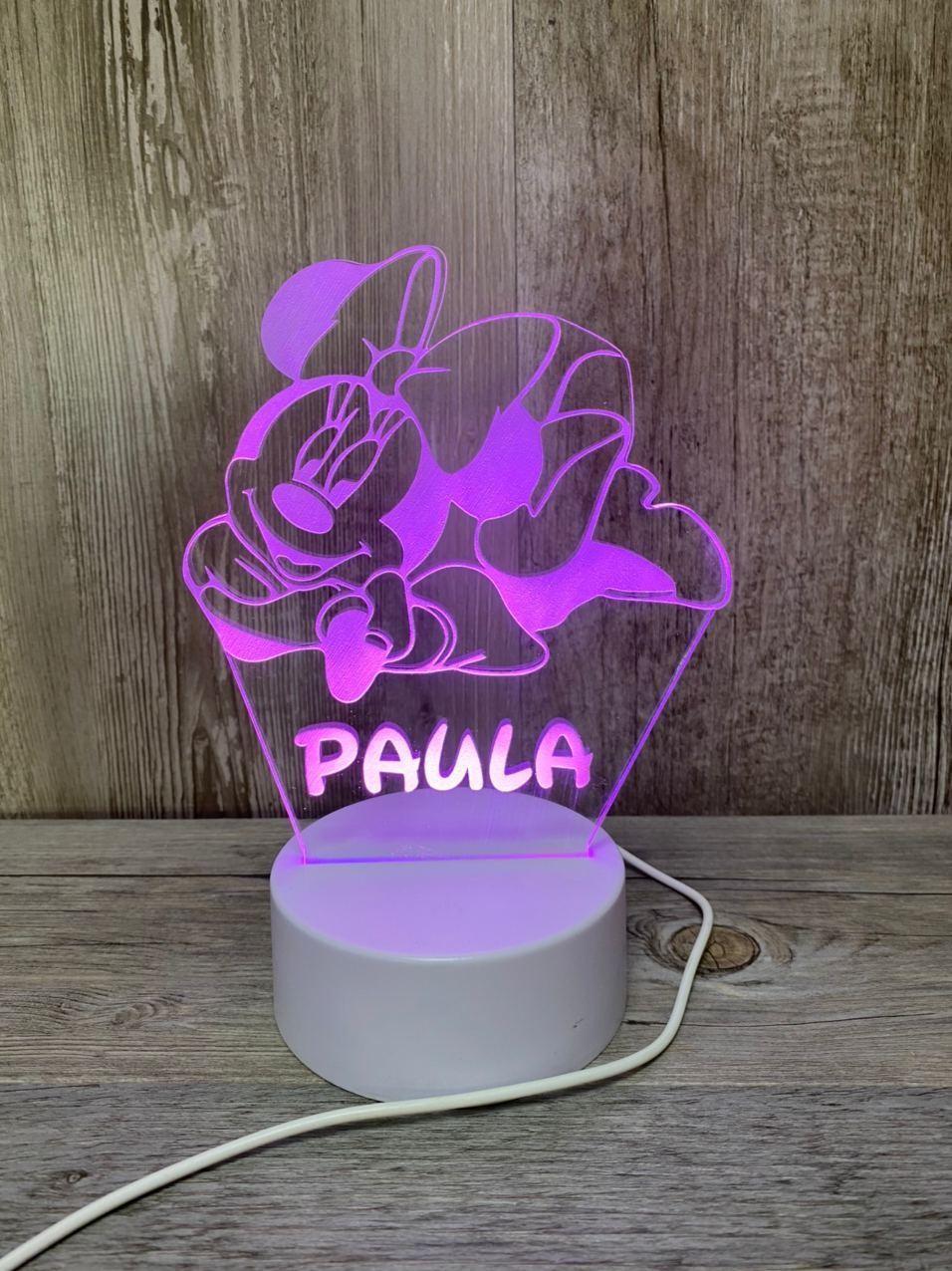 Lámpara led Minnie Mouse