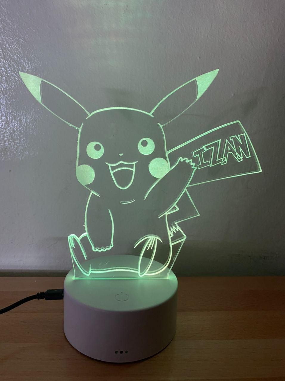 Lámpara led Pikachu Pokemon