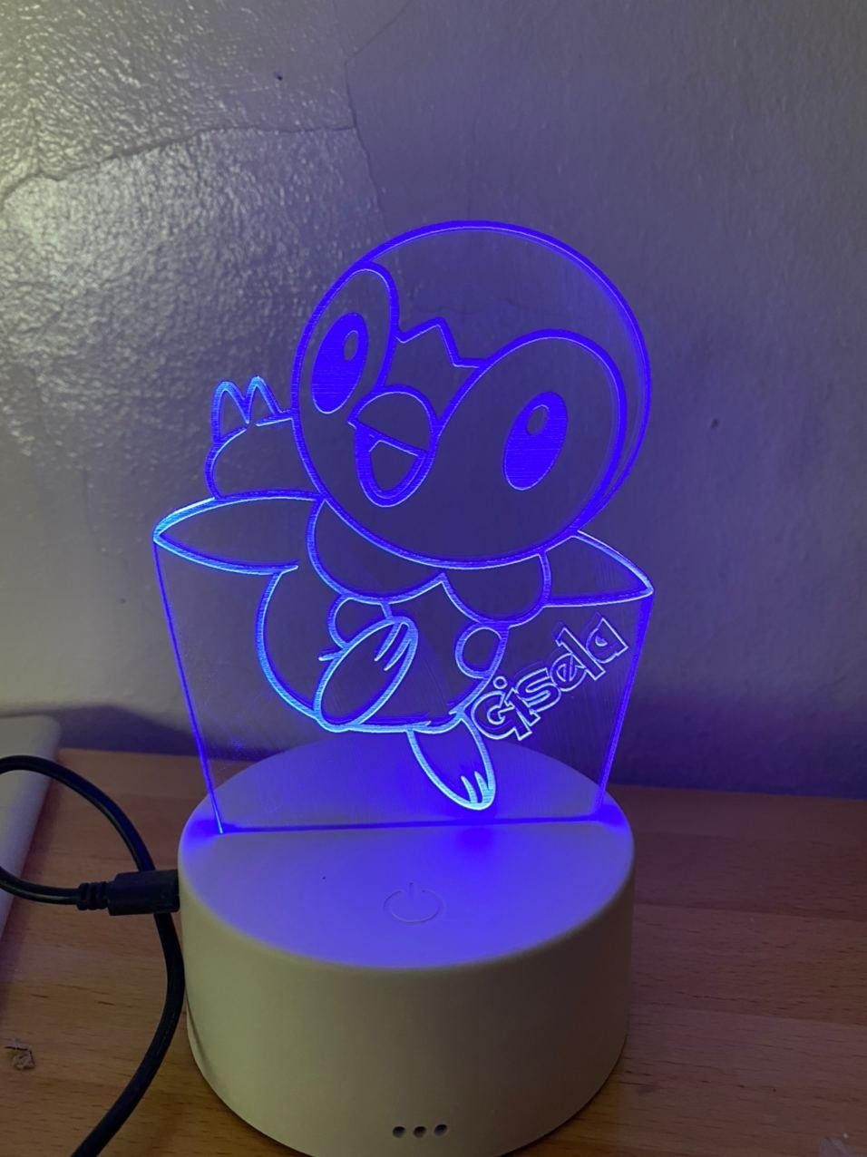 Lámpara led Piplup Pokemon