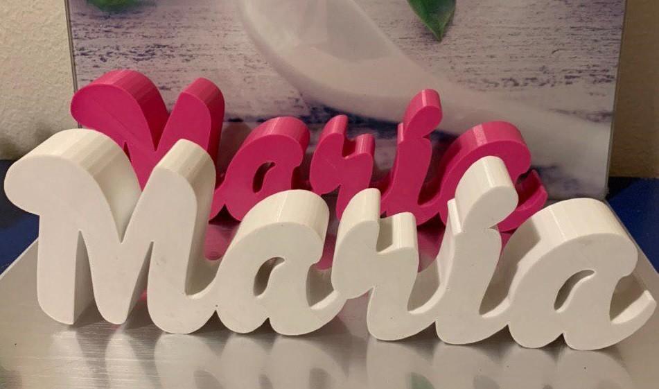 Nombre completo impreso en 3D