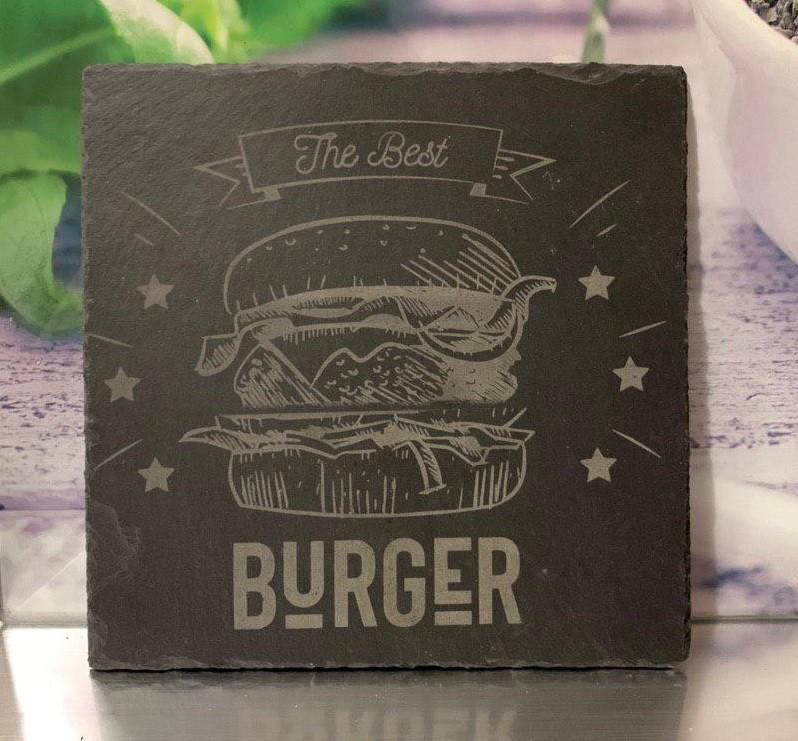 Plato de pizarra Best Burger