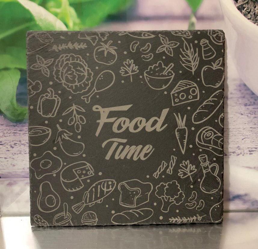 Plato de pizarra Food Time!